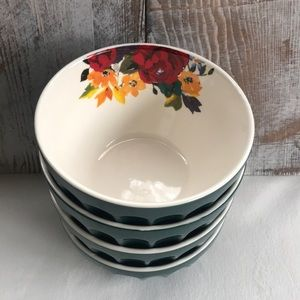 "(2) Pioneer Woman 5.75"" Latte Bowls"